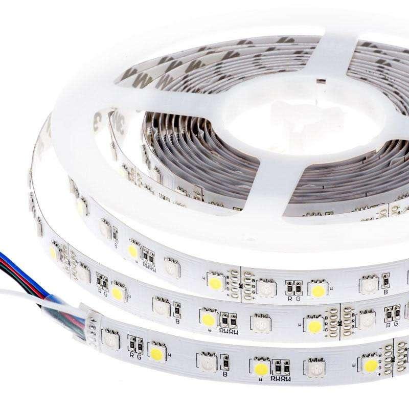Tira LED SMD5050, RGB+CW, DC12V, 5m (60Led/m) - IP20